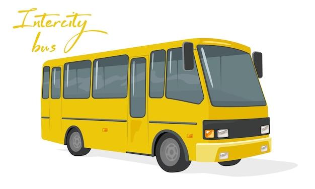 편안한 좌석이있는 노란색 대형 버스가 도시 노선을 운행합니다.