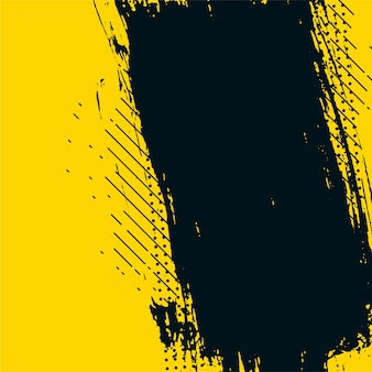 Yellow and black abstract grunge messy texture background