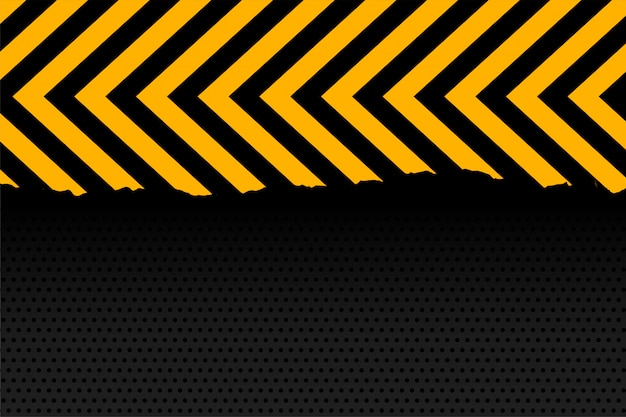 Yellow and black arrow stripes background