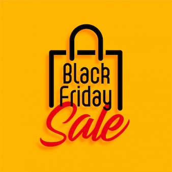 Yellow black briday shopping sale
