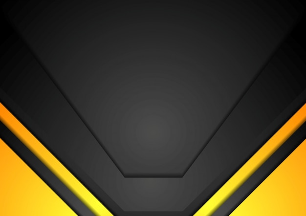 Yellow and black corporate art background