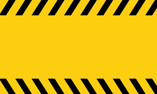 Yellow and black danger tape. blank warning. vector on isolated background. eps 10.