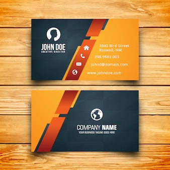 Yellow black and dark business card