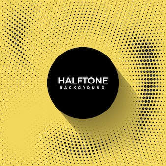 Yellow and black haltone background
