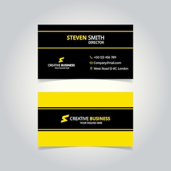 Yellow and black minimal letter s logo