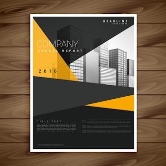 Yellow and black modern brochure