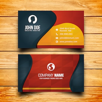 Yellow black and red business card