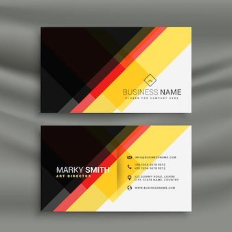 Disegno di colore giallo rosso e nero creativo biglietto da visita