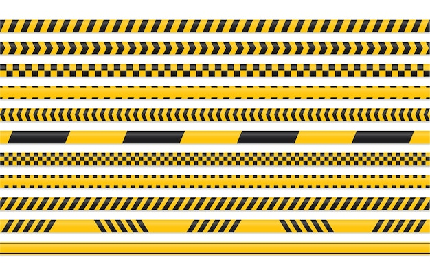 Yellow black tape set