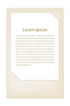 Yellow blank card template. vector illustration