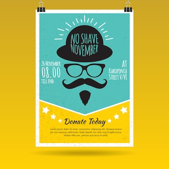 Yellow and blue movember brochure