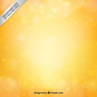 Yellow bokeh background in bright style