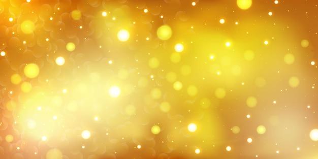 Sfondo giallo bokeh