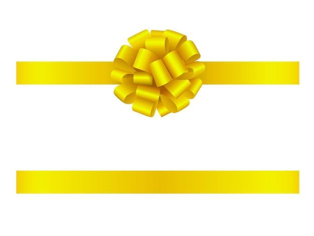 노란 나비와 리본