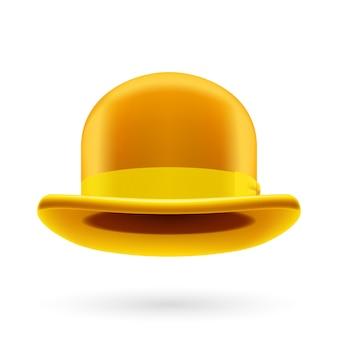 Yellow bowler hat