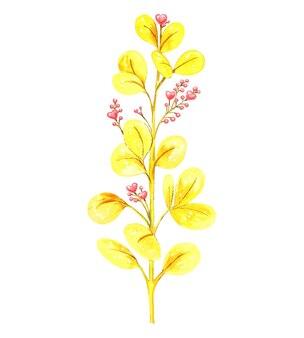 하트 모양의 핑크 딸기 장식 노란색 지점