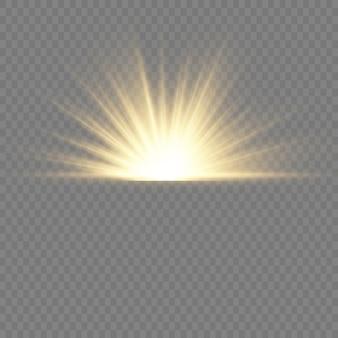 灰色の背景に黄色の明るいフラッシュ