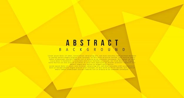 Yellow bright geomtric shape background