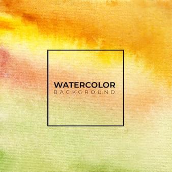 Желто-коричневый абстрактный акварельный фон текстуры
