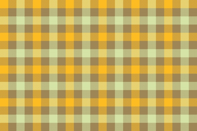 Yellow brown check fabric texture background seamless pattern