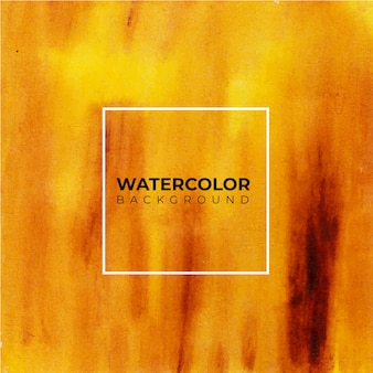 黄褐色の抽象的な水彩ハンドペイント。
