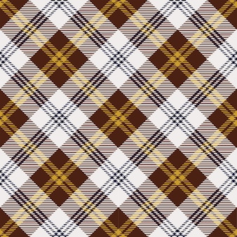 Yellow and brown scotland check pattern