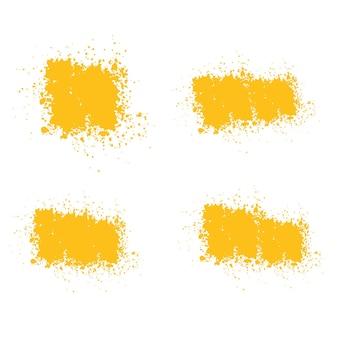 Желтые кисти краски текстуры мазки желтый мазок кисти
