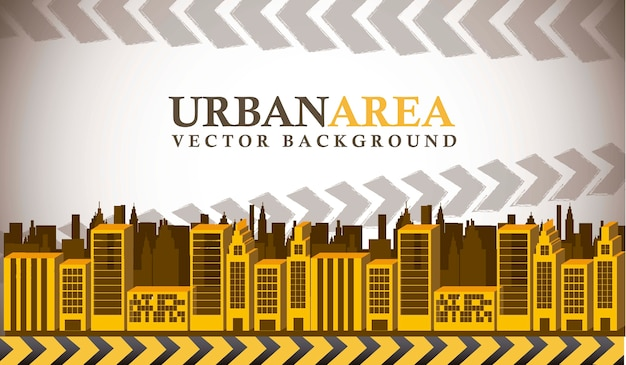 Yellow buildings with space for copy urban area vector