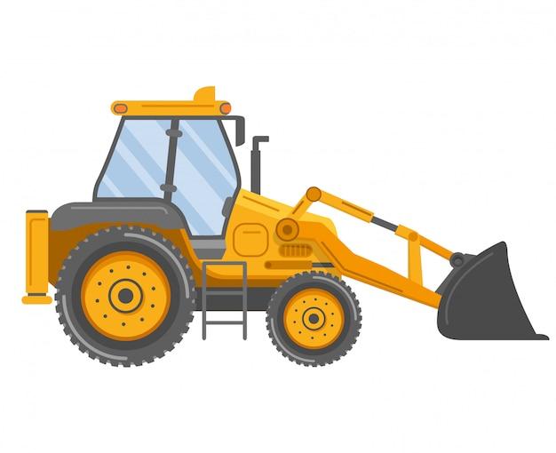 Желтый бульдозерный трактор