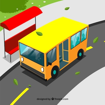 Yellow bus background