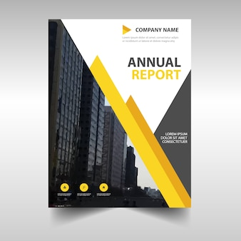 Yellow business flyer template