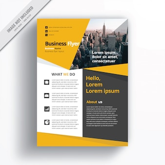 Yellow Business  Flyer Template.