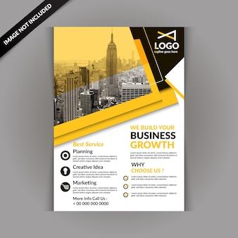 Yellow business magazine template