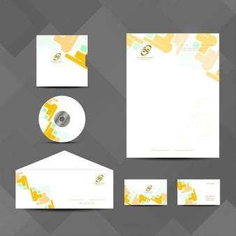 Yellow business stationery