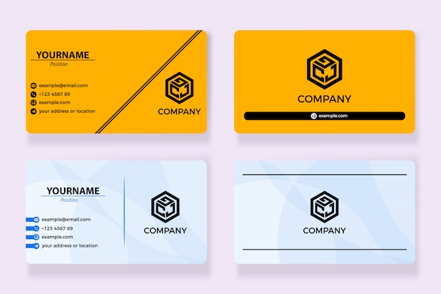Yellow businesscard design