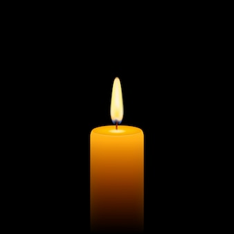 Of yellow candle