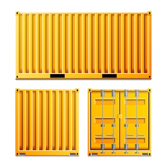 Yellow cargo container