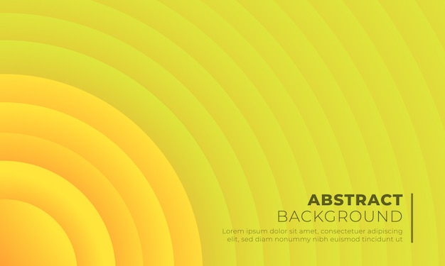 Yellow circle paper cut background