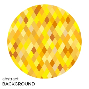 Yellow circle of rhombuses isolated on white background. abstract vector background.