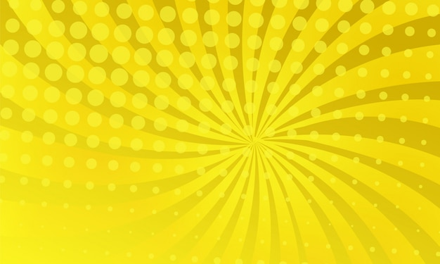 Yellow color comic background