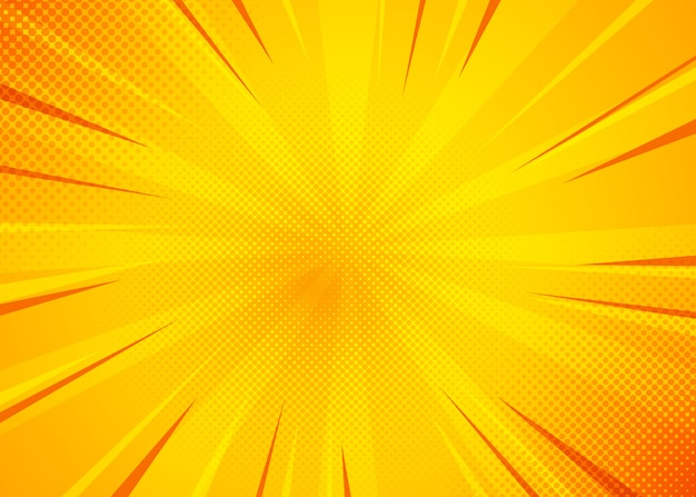 Yellow comic background. pop art comic background with yellow color