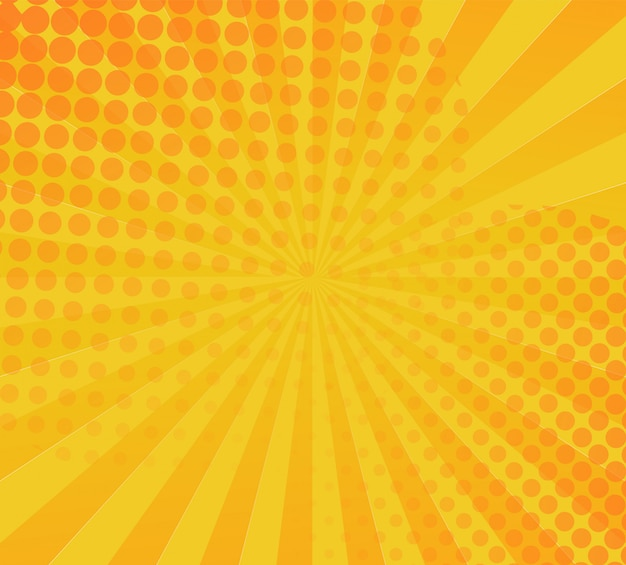 Yellow comic book background