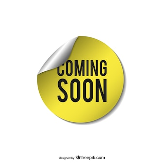 Yellow coming soon sticker