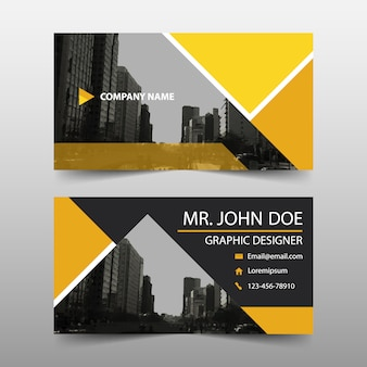 Yellow commercial business card