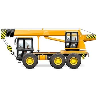 Yellow construction machine illustration