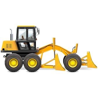 Желтая строительная машина иллюстрация