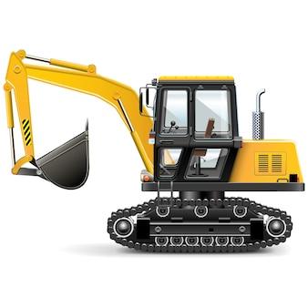 黄色の建設機械のイラスト