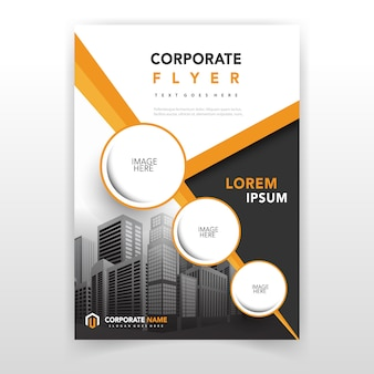 Yellow cover annual report template