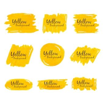 黄色のクレヨンの水彩画の背景