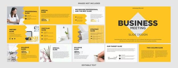 옐로우 크리에이티브 다목적 프레젠테이션 디자인